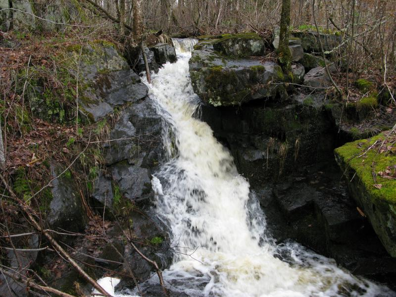 Craggy little falls on Bacco Creek