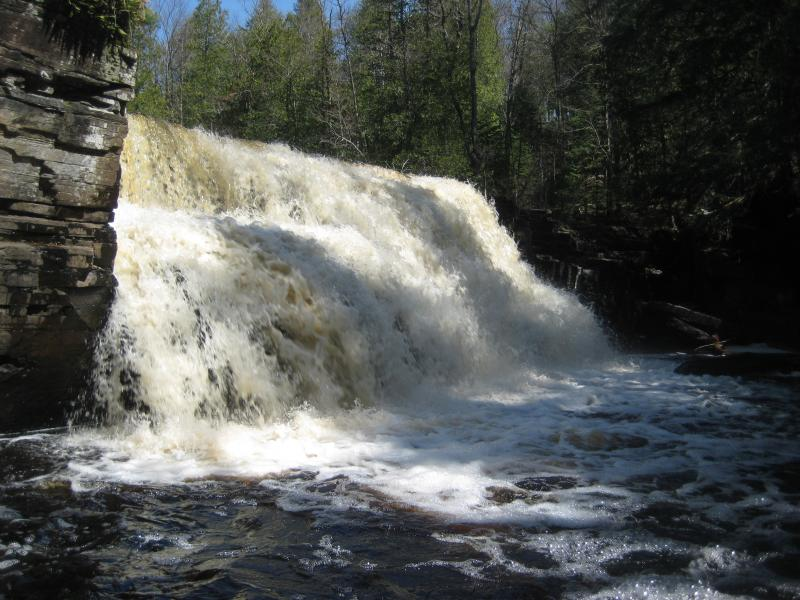 Water level with Canyon River Falls