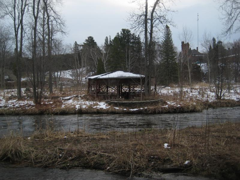 Old gazebo across Carp River