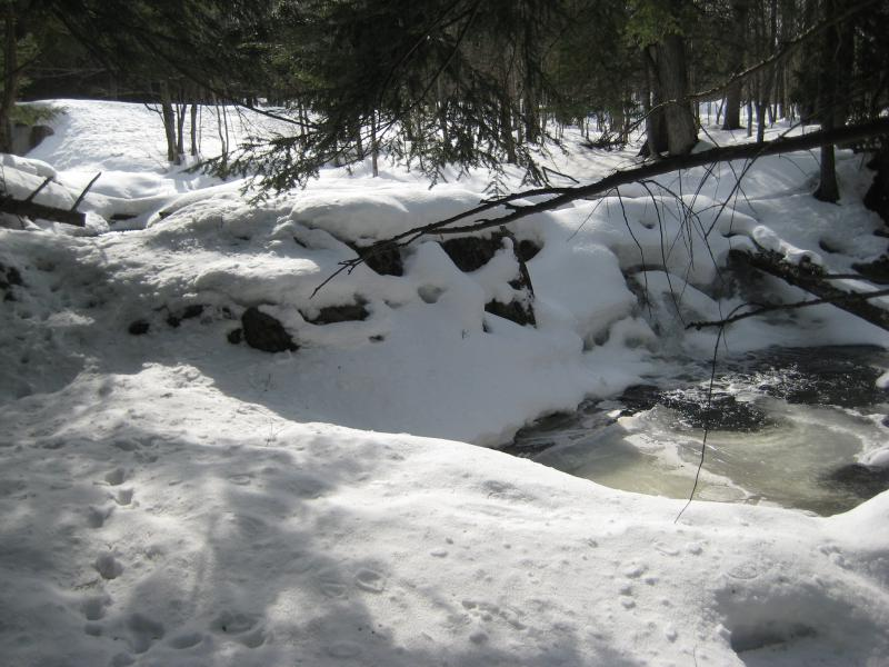 Falls covered in snow and ice