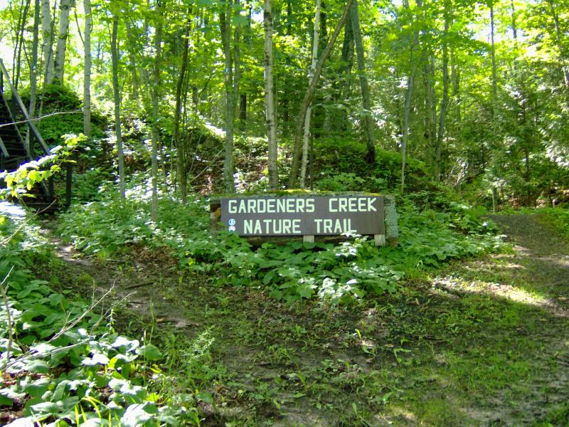 Sign for Gardeners Creek