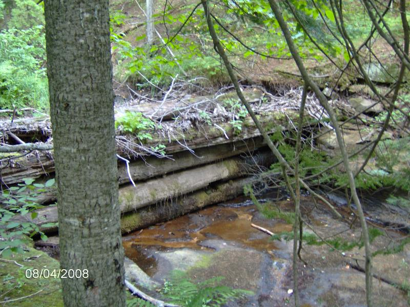 Old wooden dam