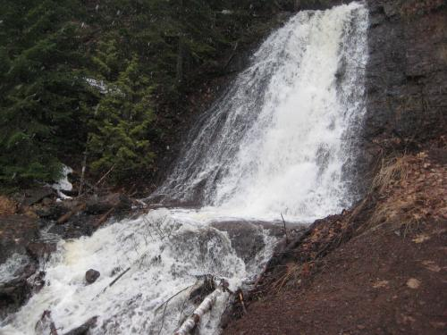 Swollen plunge over Haven Falls