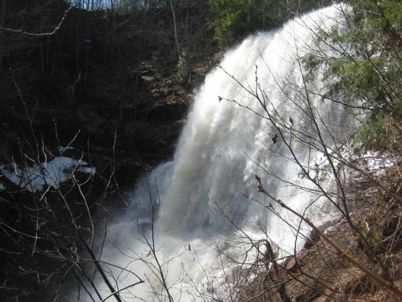 Huge lower falls