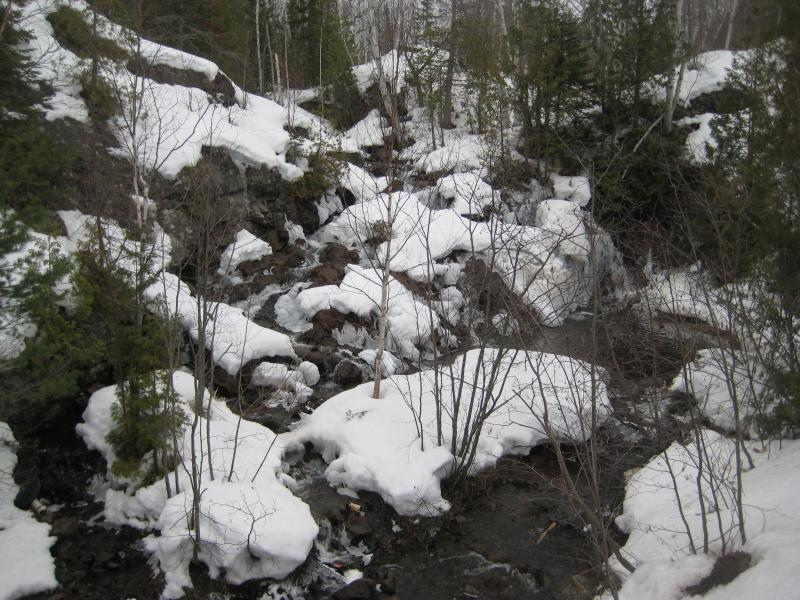 Snowy, rocky creek