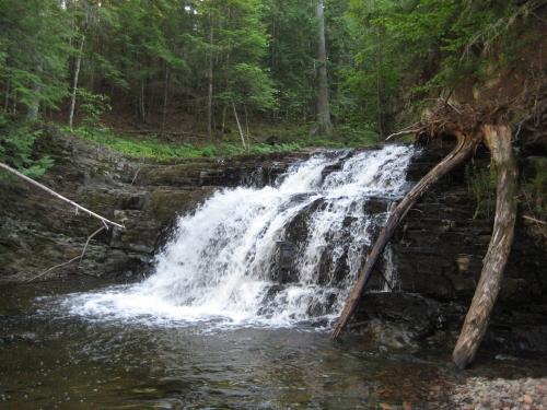 Side view of the falls