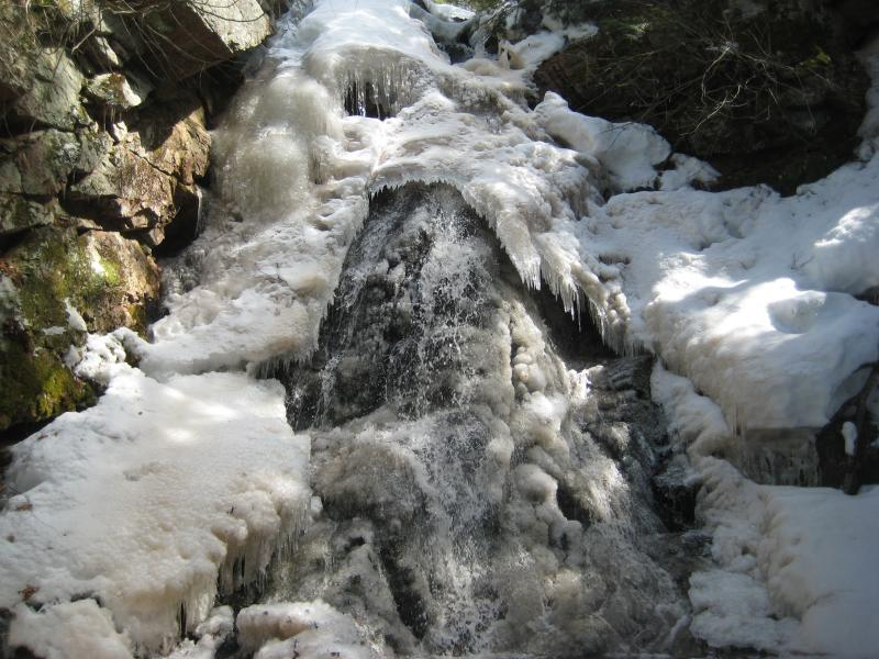 Ice hanging over Little Trap Falls