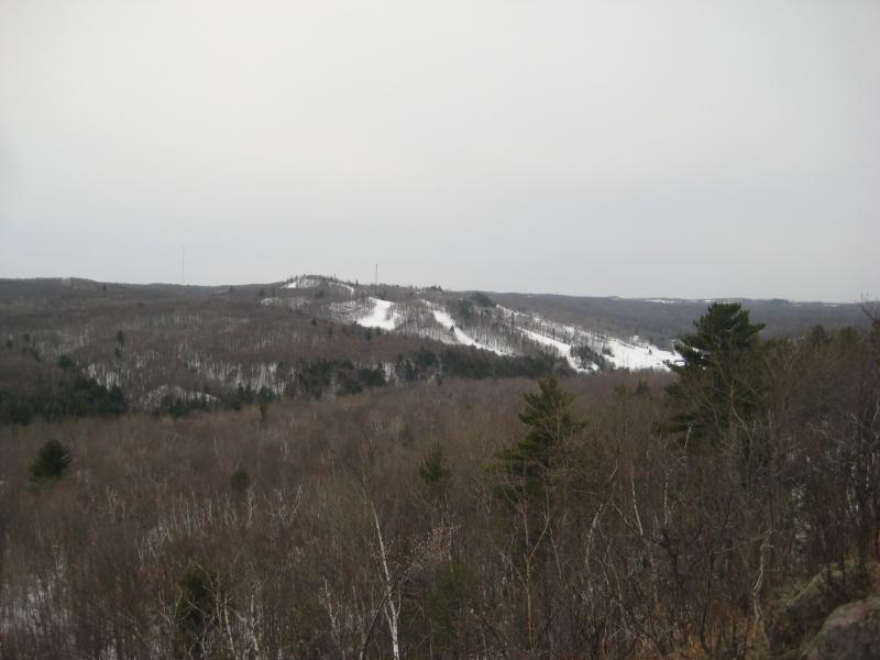 The ski hill to the south