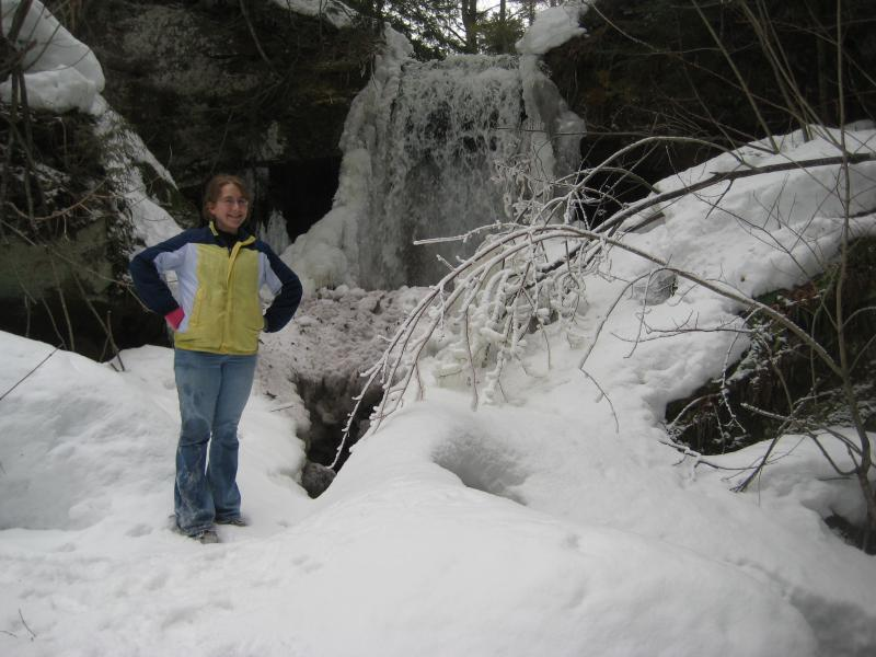 Faith posing at the upper falls