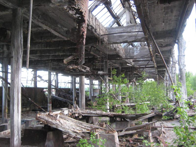 Inside the old Quincy Mill
