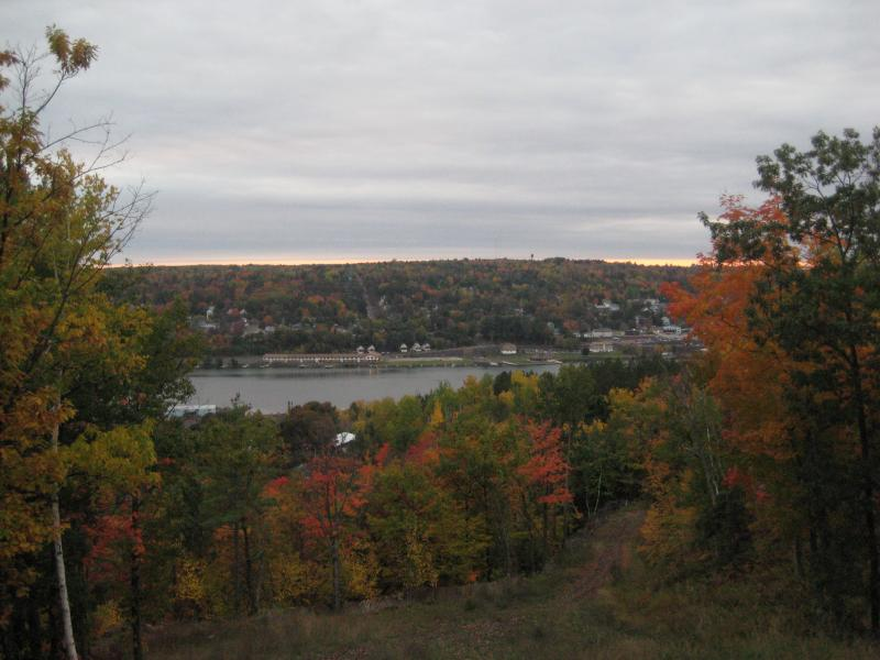 Fall colors over the Portage