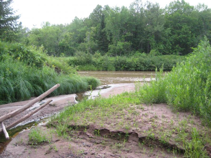 Muddy inlet into Ontonagon River