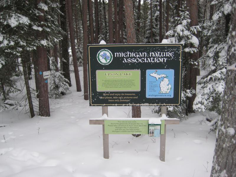Sign for the preserve
