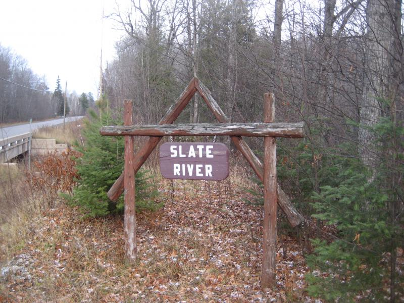 Sign for Slate River