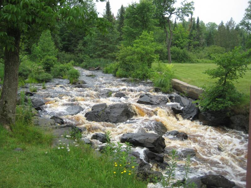 Gushing lower falls