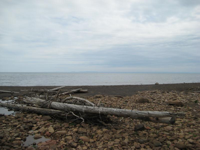 Distant mountains across Keweenaw Bay