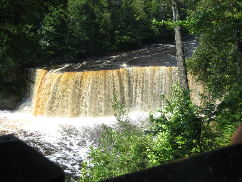 Brown sheet of Upper Tahquamenon Falls