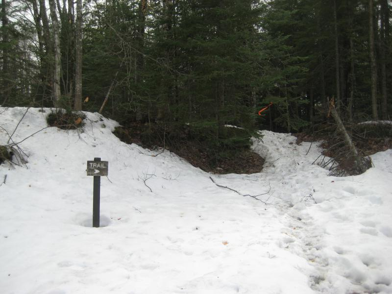 Slush deep around the trailhead